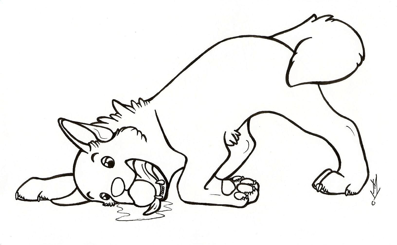 1632x1008 Easy Dog Coloring Pages Kids Valentine Kitten Coloring Pages Dog