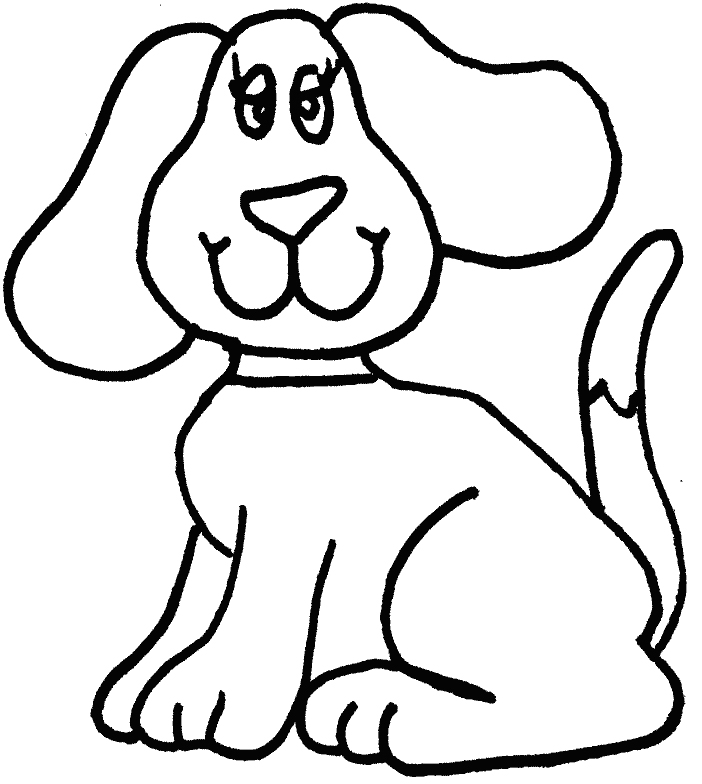 702x784 Simple Dog Coloring Page Dog Craft