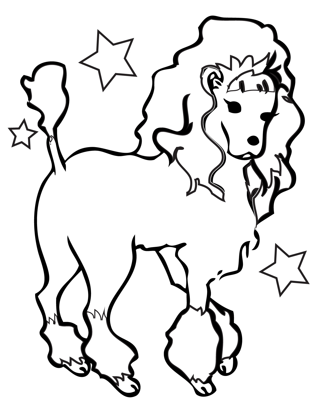 1275x1650 Simple Dog Coloring Pages