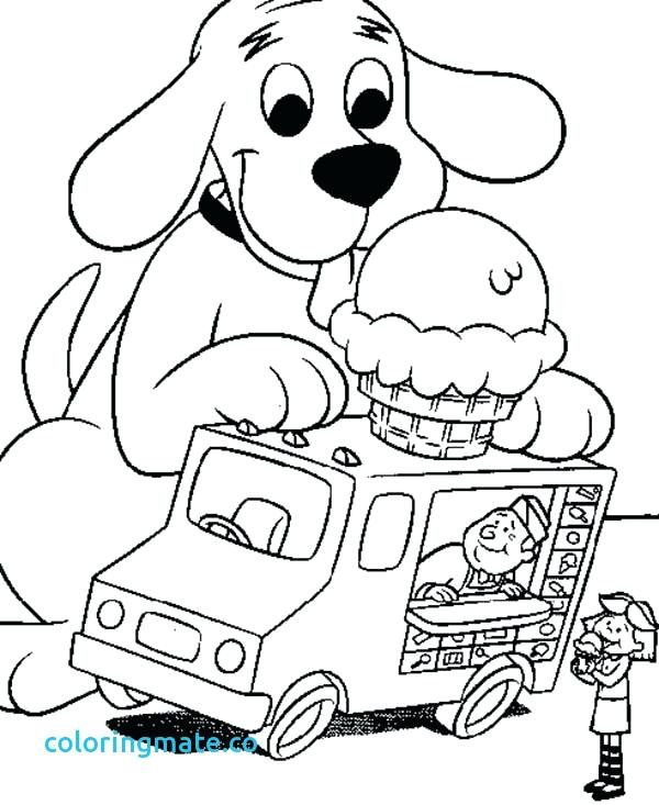 600x733 Clifford Coloring Pages Coloring Dog House Coloring Page Simple