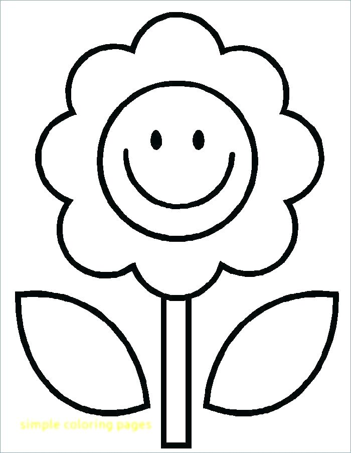 700x903 Cute Flower Coloring Pages Simple Coloring Pages With Simple Dog