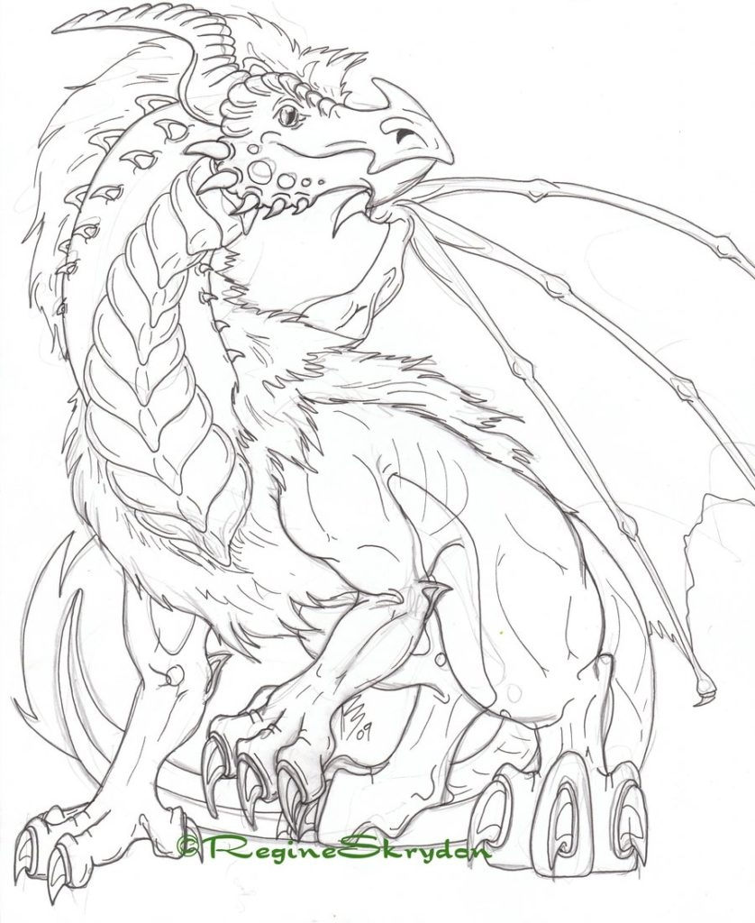 Simple Dragon Coloring Pages