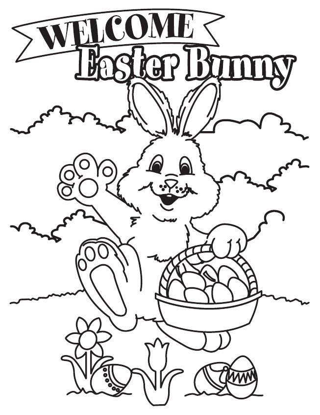 653x845 Easter Happy Bunny Free Coloring Page Easter, Holidays Coloring