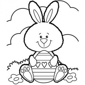 300x300 Free Printable Easter Bunny Coloring Page Free Printables