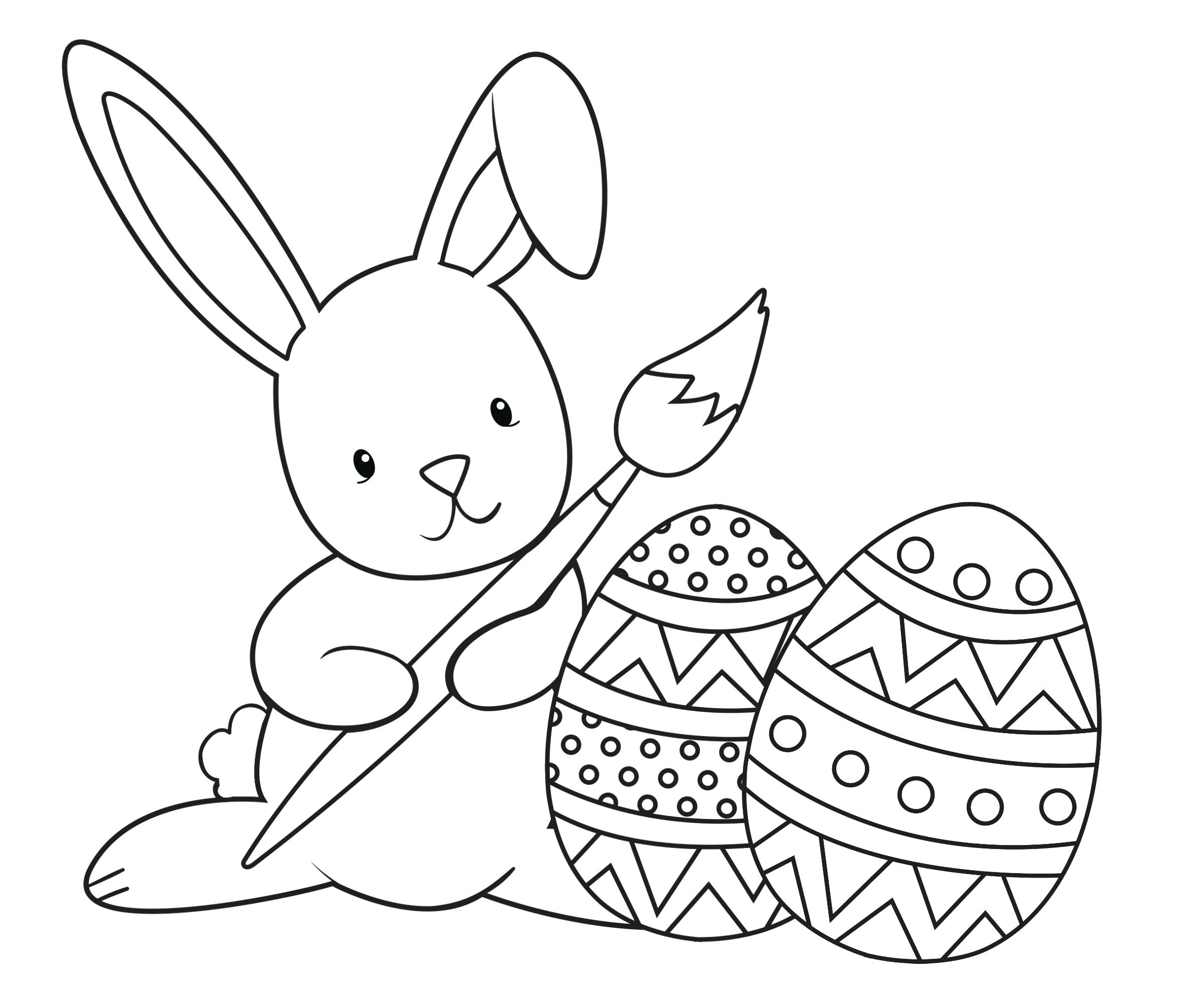 2400x2000 Coloring Pages Easter Bunny Coloring Pages To Print Page