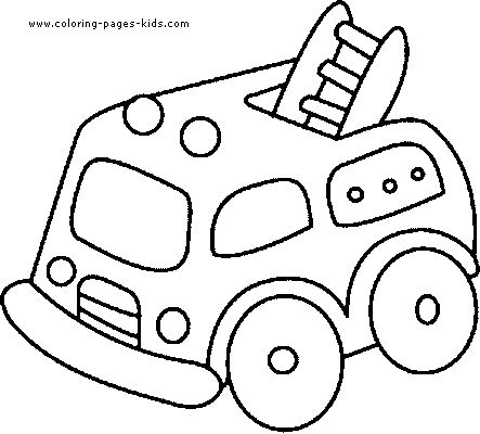 Simple Fire Truck Coloring Pages