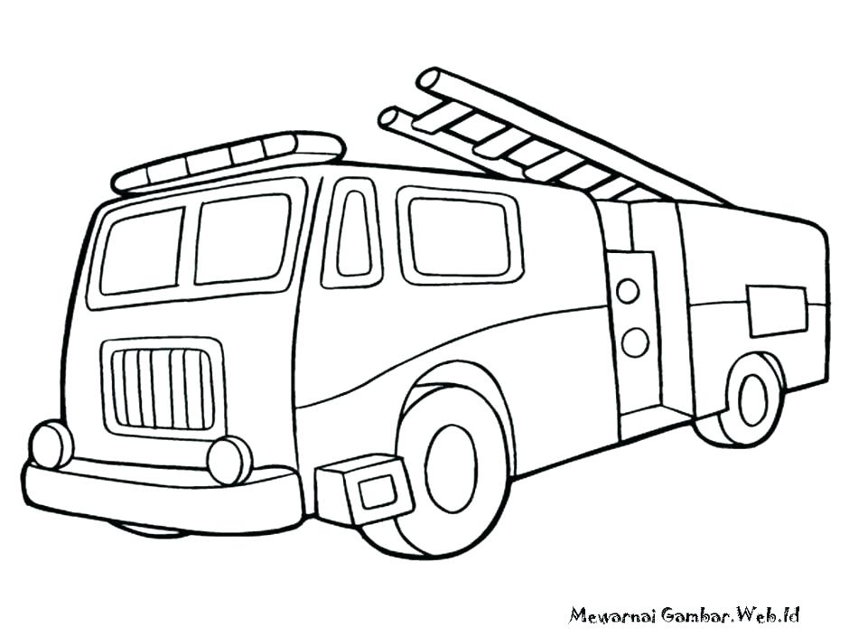 940x705 Fire Truck Coloring Pages Fire Truck Simple Model Of Fire Truck