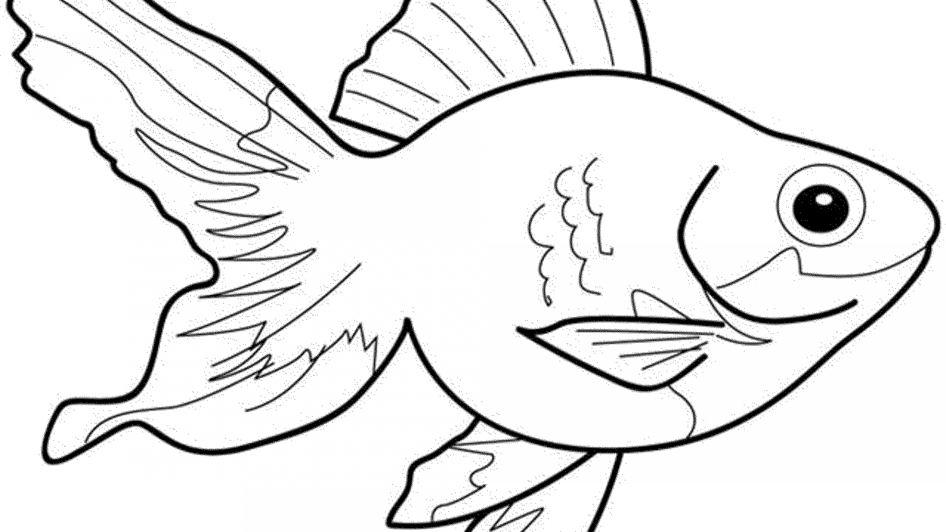 Simple Fish Coloring Pages at GetDrawings | Free download