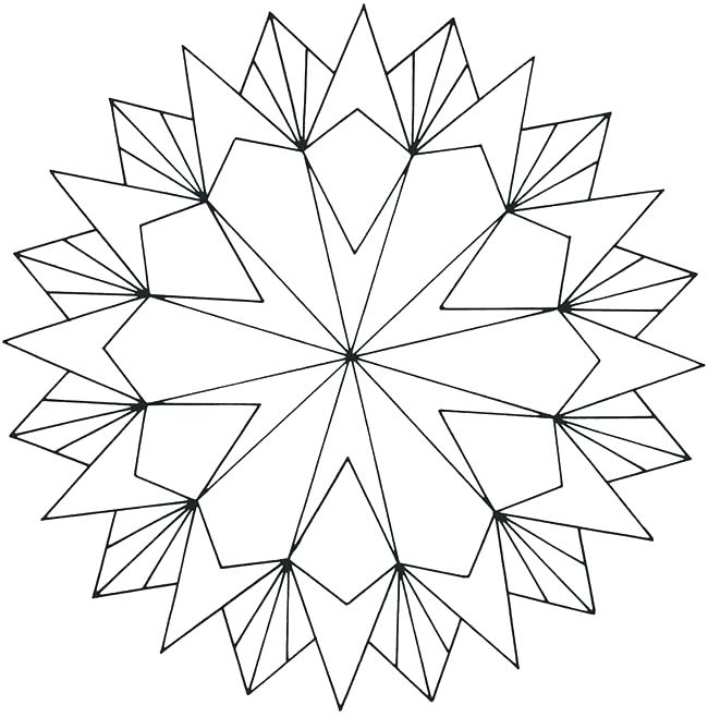 Simple Geometric Coloring Pages At Getdrawings Free Download