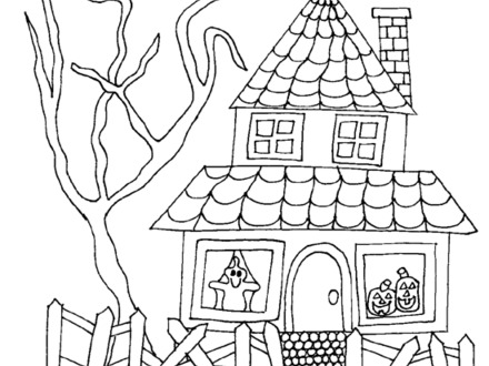 440x330 Haunted Mansion Coloring Pages Beautiful Haunted House Coloring