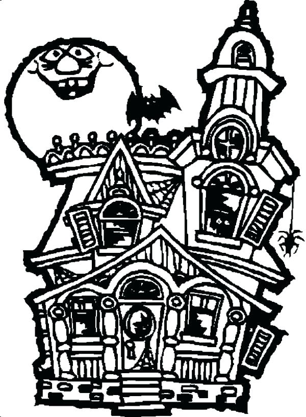 600x818 Coloring Pages Disney Pdf Haunted House Page Free Printable