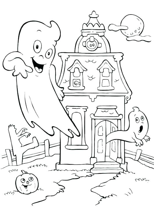 530x722 House Coloring Pages Printable Professional