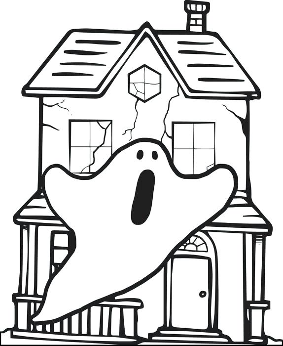 574x700 House Coloring Pages