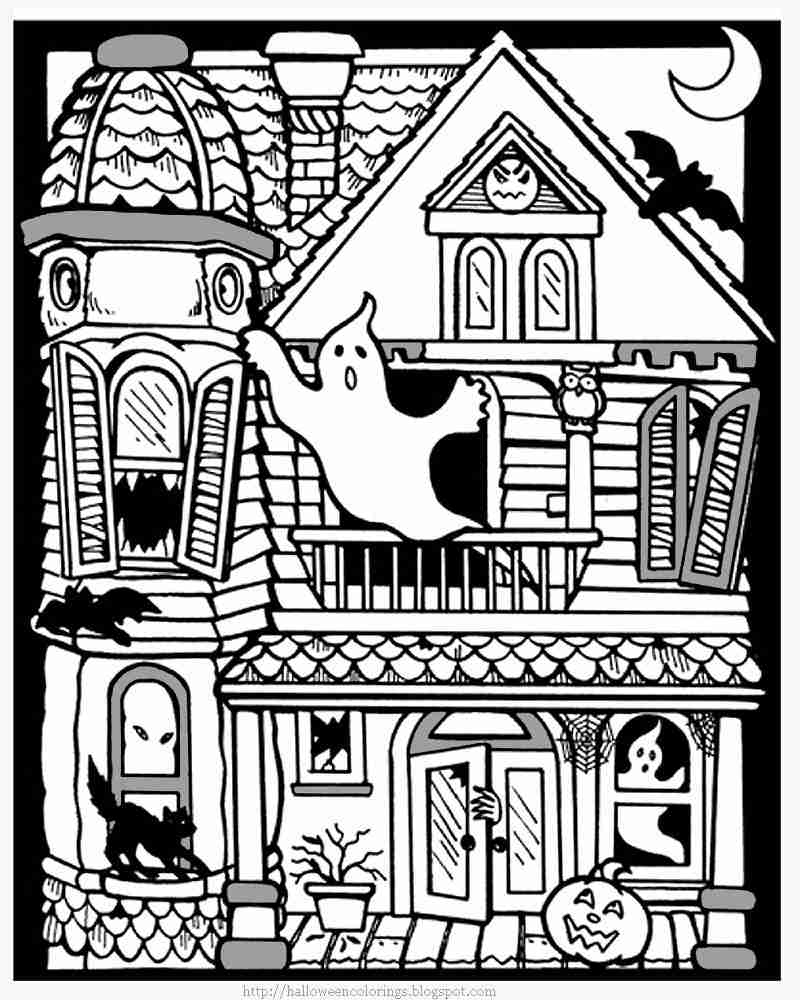 800x1000 Free Printable Haunted House Coloring Pages For Kids Unbelievable