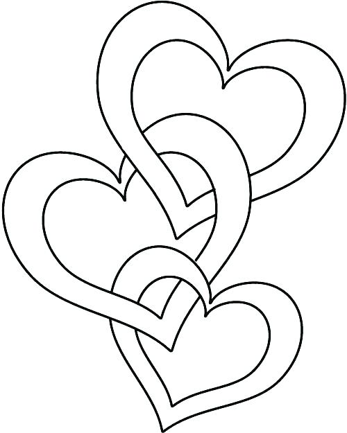 simple heart coloring pages 26