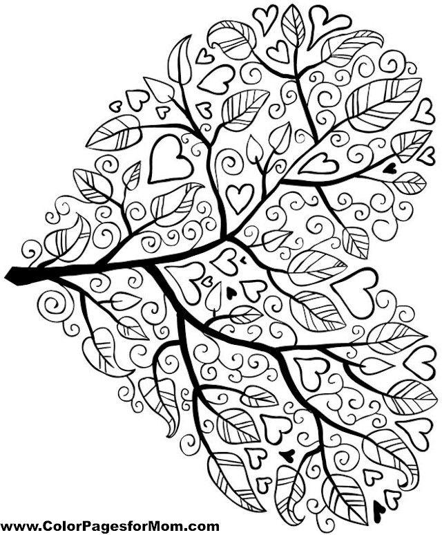 Simple Heart Mandala Coloring Pages