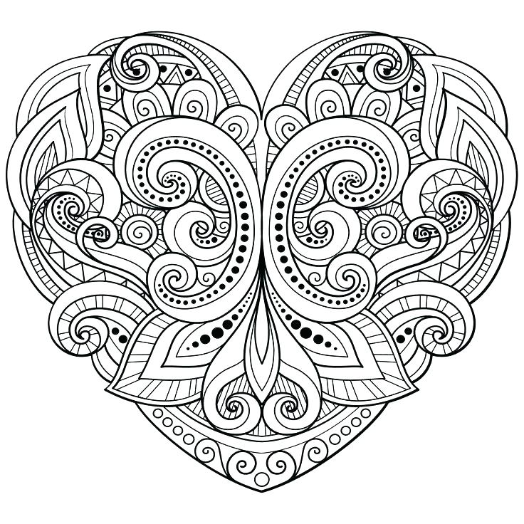 736x736 Heart Mandala Coloring Pages Simple Heart Mandala Coloring Pages