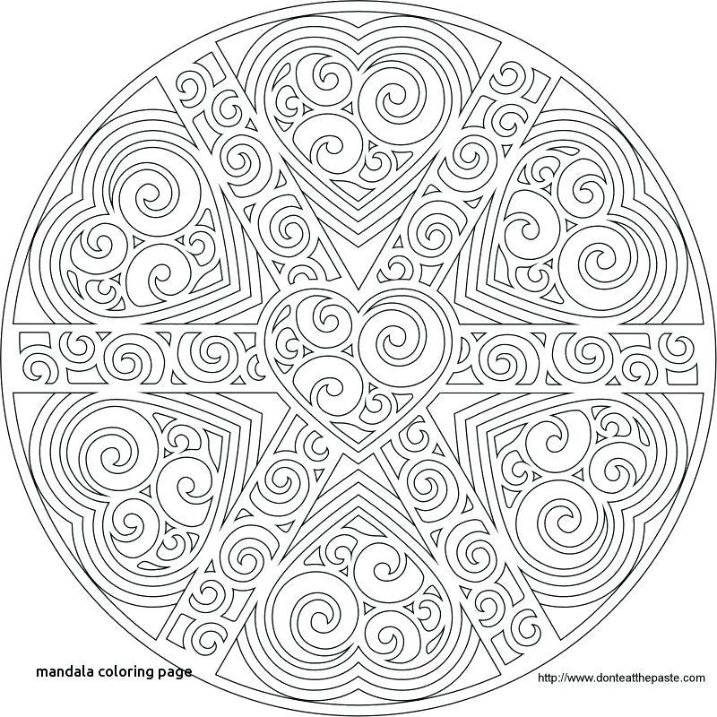 800x800 Heart Mandala Coloring Pages Swirled Heart Mandala To Print