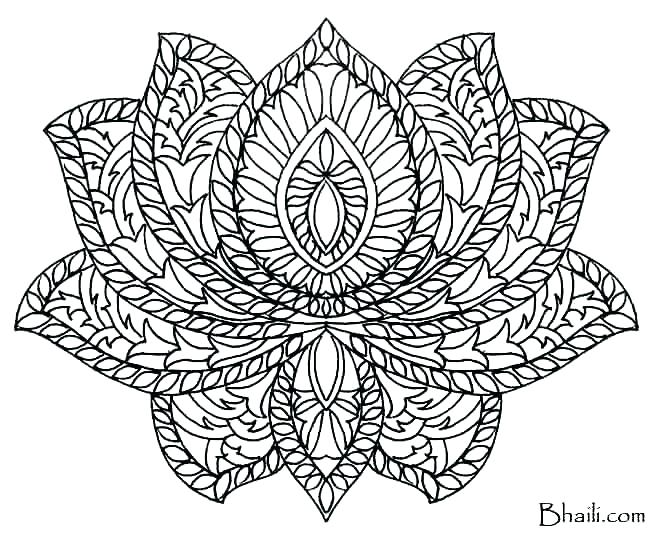 650x537 Mandela Coloring Pages Coloring Free Printable Lotus Mandala Easy