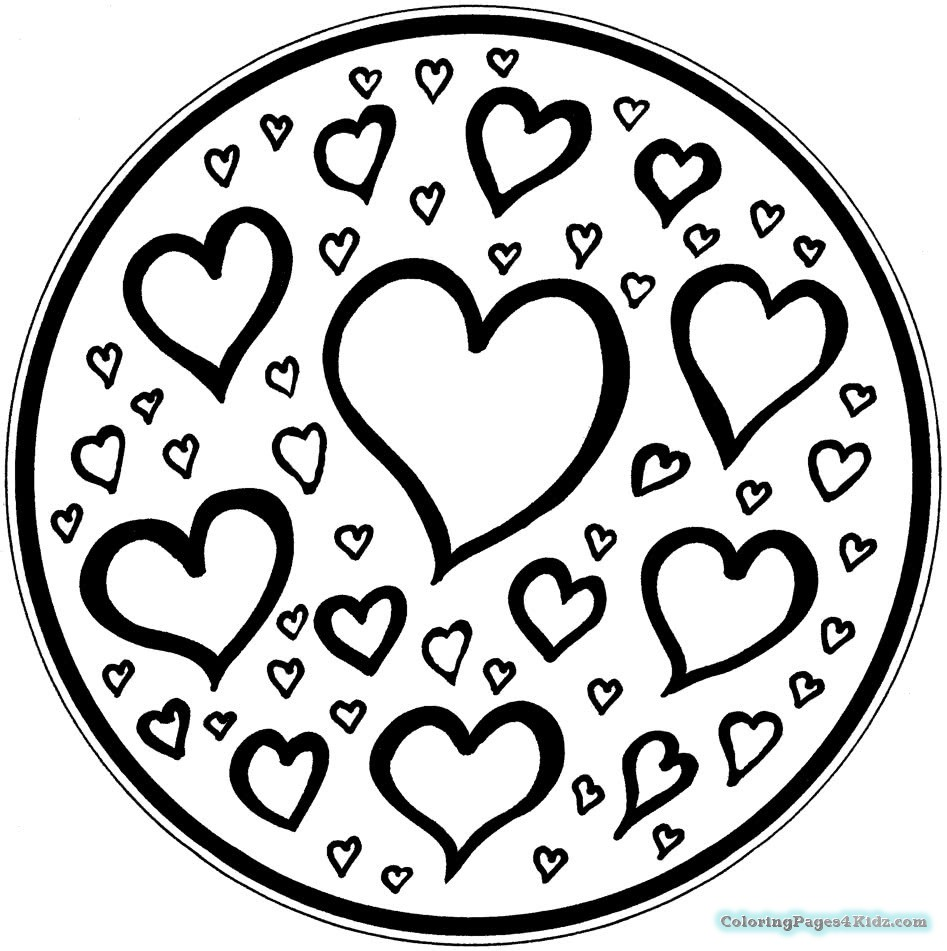 947x951 Simple Heart Mandala Coloring Pages Coloring Pages For Kids