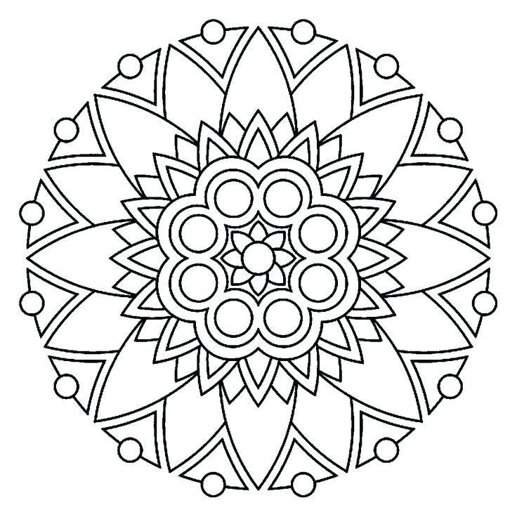 736x736 Simple Heart Mandala Coloring Pages Kids Coloring Best Mandalas