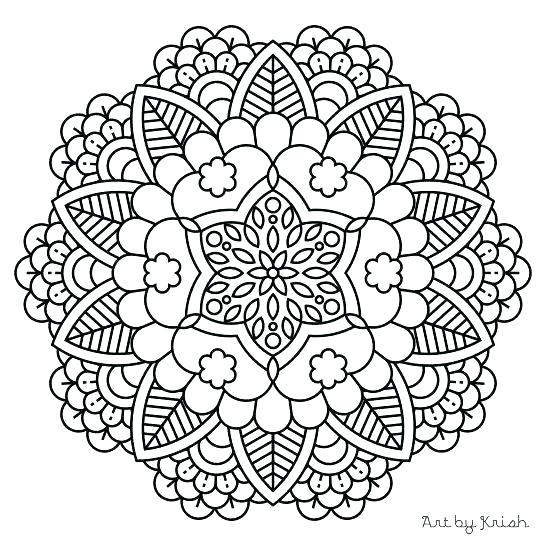 Simple Heart Mandala Coloring Pages at GetDrawings.com | Free for ...