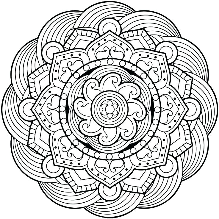 736x736 Simple Mandala Coloring Pages As Well As Simple Mandala Coloring