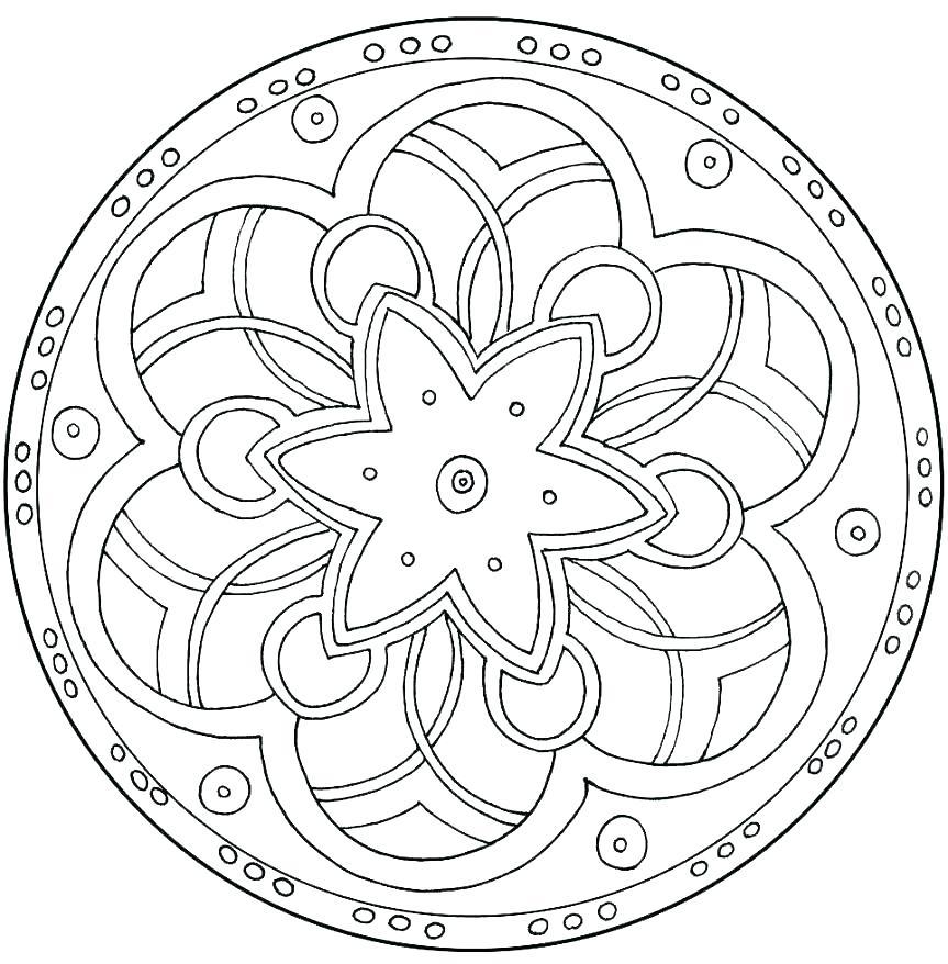 863x878 Simple Mandala Coloring Pages Heart Mandala Coloring Pages Simple