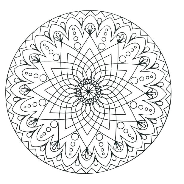 618x618 Simple Mandala Coloring Pages Mandala Coloring Pages Packed