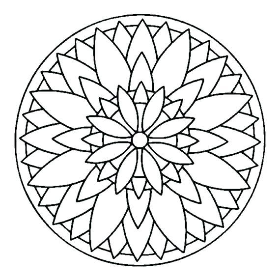 570x570 Simple Mandala Coloring Pages Plus Simple Mandala Coloring Pages