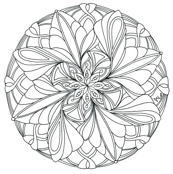 687x689 Simple Mandalas To Color Easy Simple Mandala Coloring Pages Simple