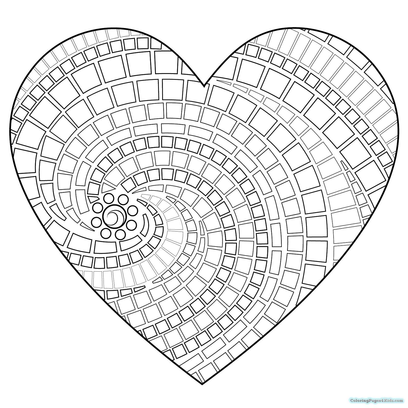1600x1600 Heart Mandala Coloring Pages Coloring Pages For Kids