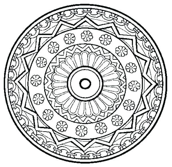 600x581 Mandala Coloring Pages
