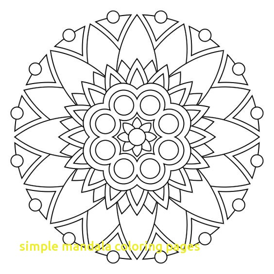 564x564 Simple Heart Mandala Coloring Pages Archives