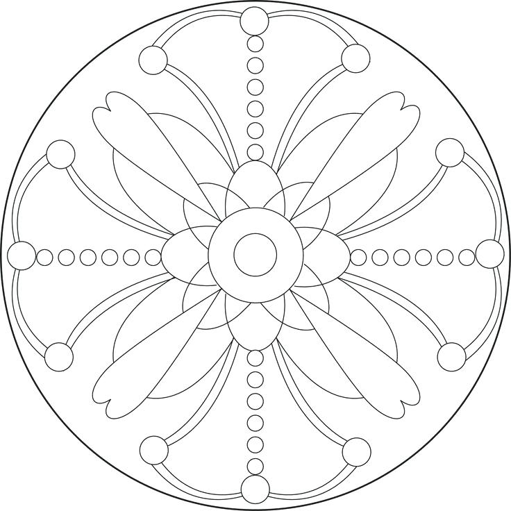 736x736 Simple Mandala Coloring Pages
