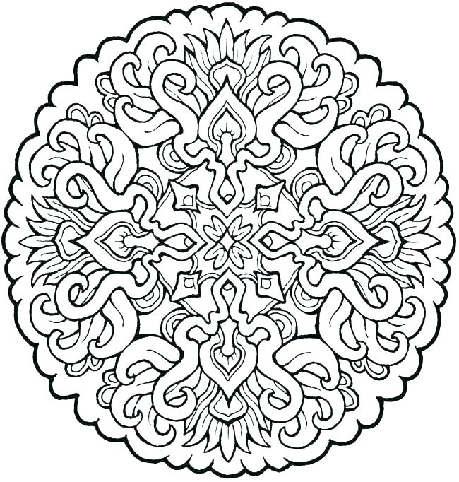 650x682 Free Heart Mandala Coloring Pages Printable Simple Hard This Is