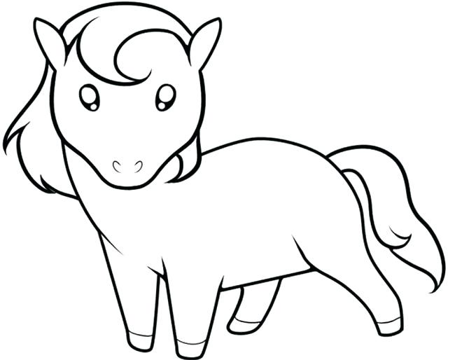 Simple Horse Coloring Pages At Getdrawings Com Free For Personal
