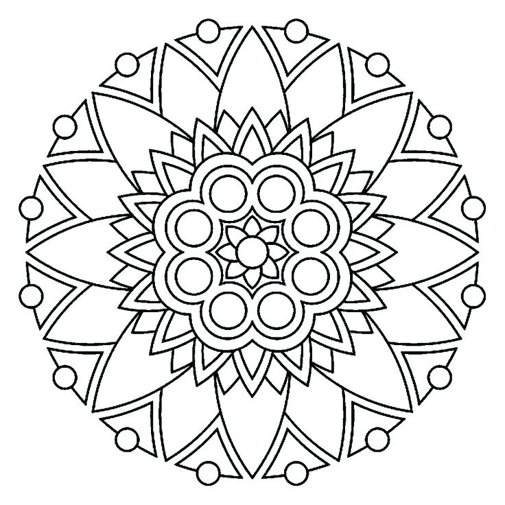 Simple Mandala Coloring Pages at GetDrawings com   Free for