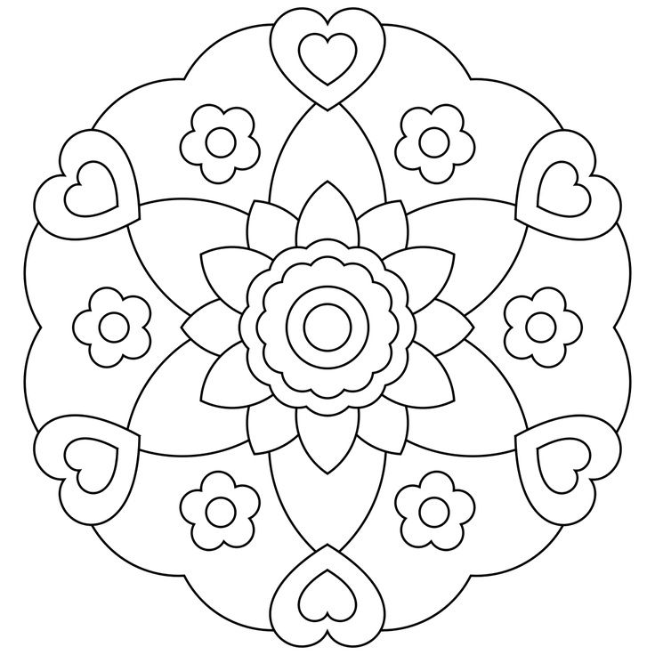 Simple Mandala Coloring Pages at GetDrawings com | Free for