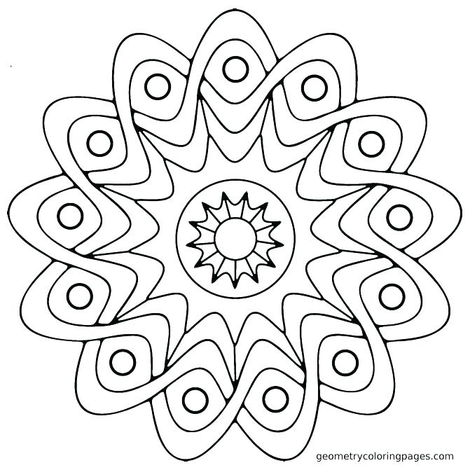 Simple Mandala Coloring Pages at GetDrawings.com | Free for ...