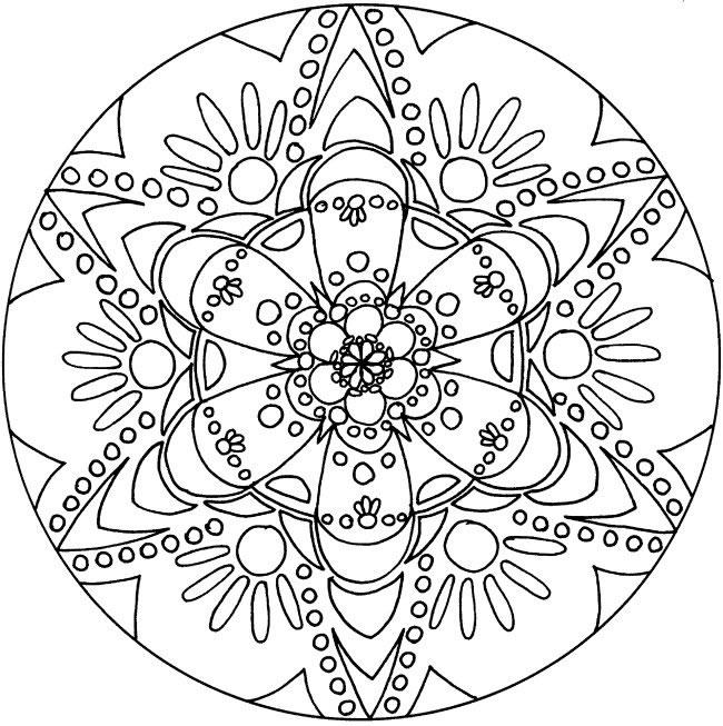 650x653 Free Printable Mandalas Coloring Pages A Simple Mandala Coloring