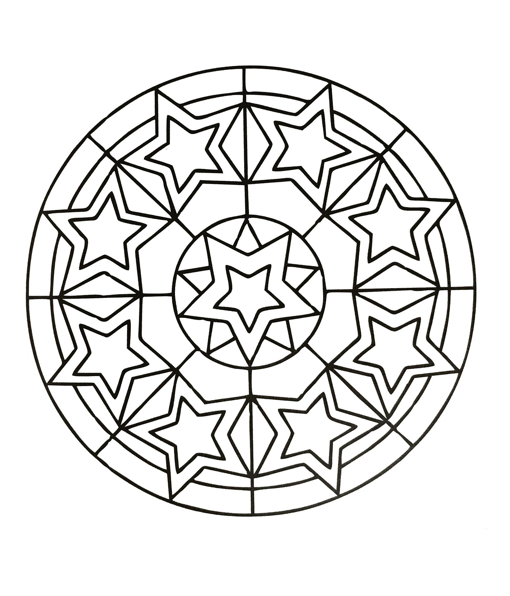 1629x1905 Fresh Simple Mandala Coloring Pages Gallery Printable Coloring Sheet