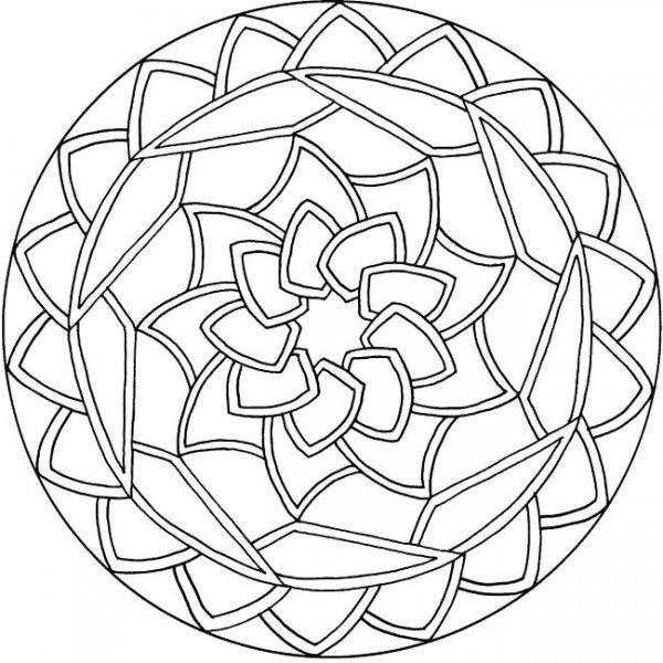 600x600 Mandala Coloring Pages Kids Free Simple Mandala Coloring Pages
