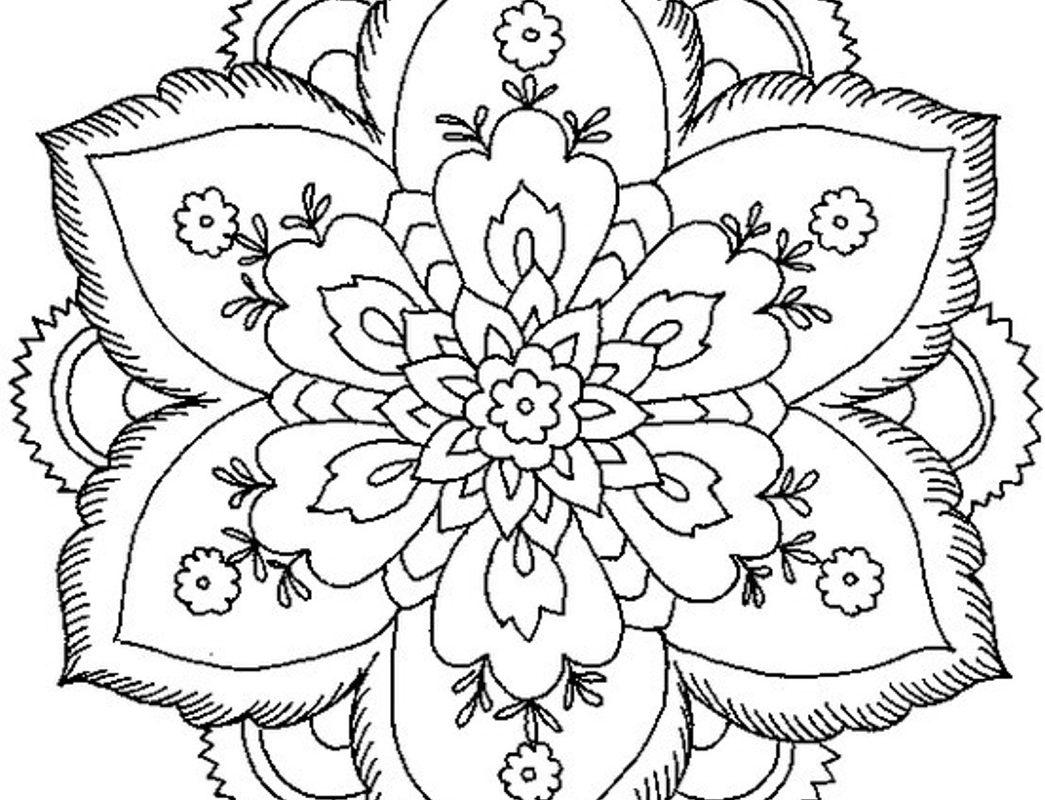 1045x800 Printable Arts Culture Easy Mandala With Stars Simple Mandalas