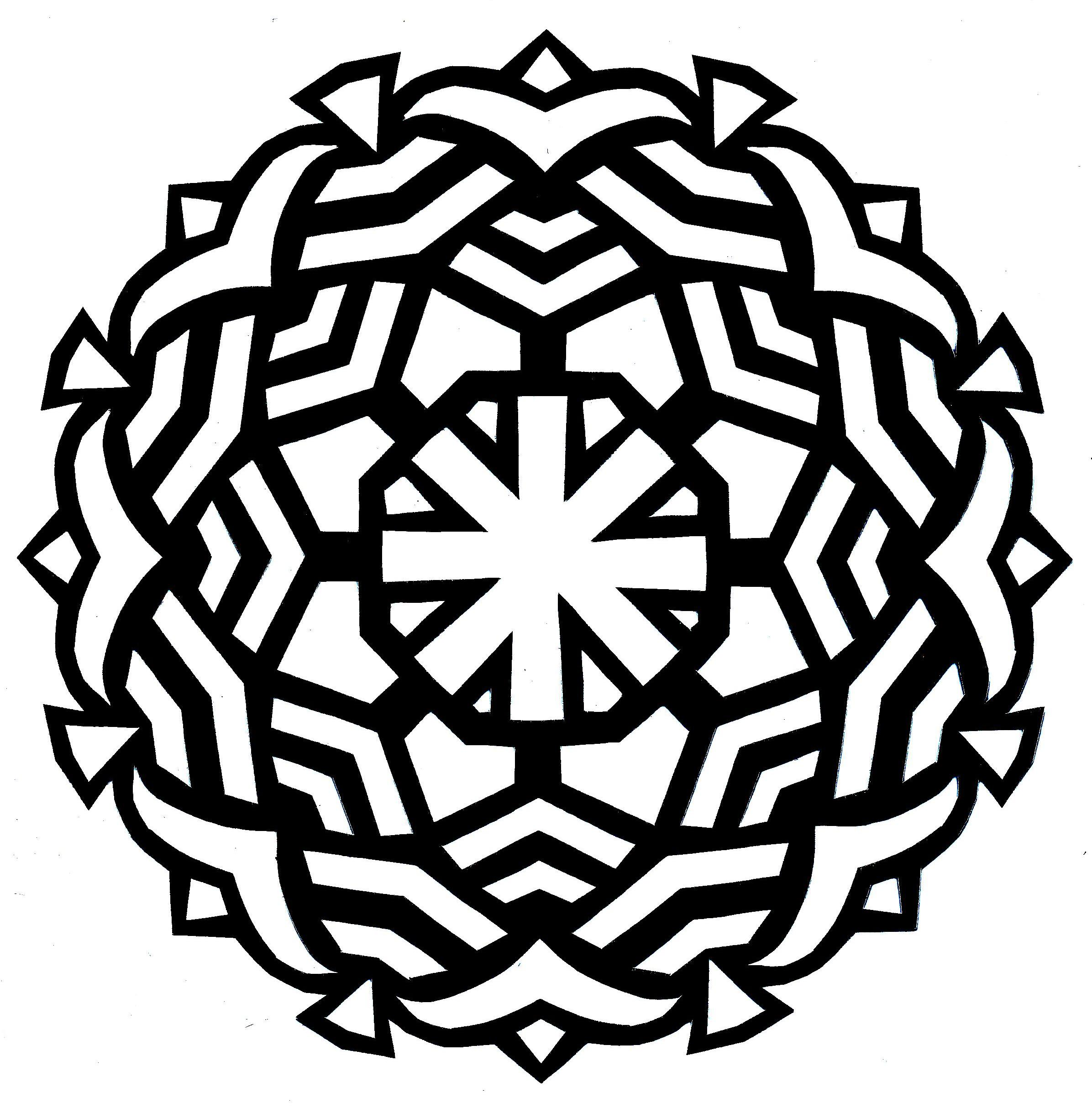 2392x2428 Best Simple Mandala Coloring Pages For Kids Free Printable