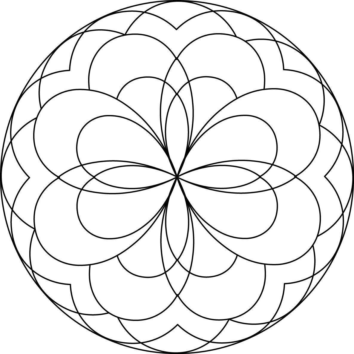 1185x1185 Simple Mandala Mandalas Coloring Pages For Kids To Print Color
