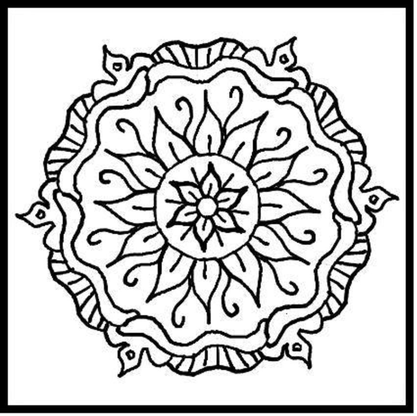 Simple Mandala Coloring Pages For Kids At Getdrawings Com Free For