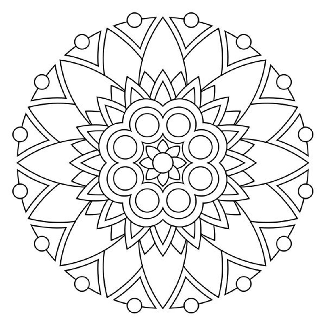 1134x1134 Simple Mandala Coloring Pages Best
