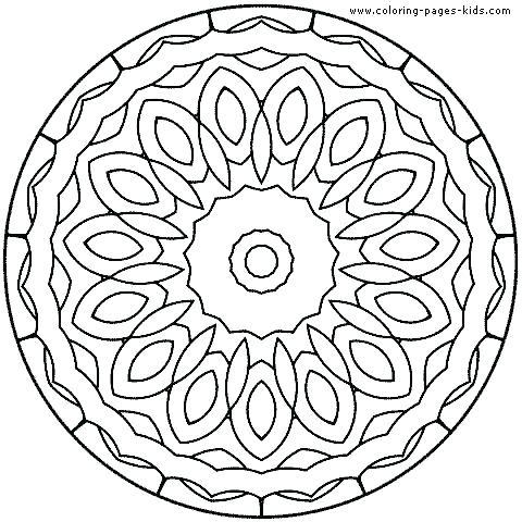 Simple Mandala Coloring Pages For Kids at GetDrawings com