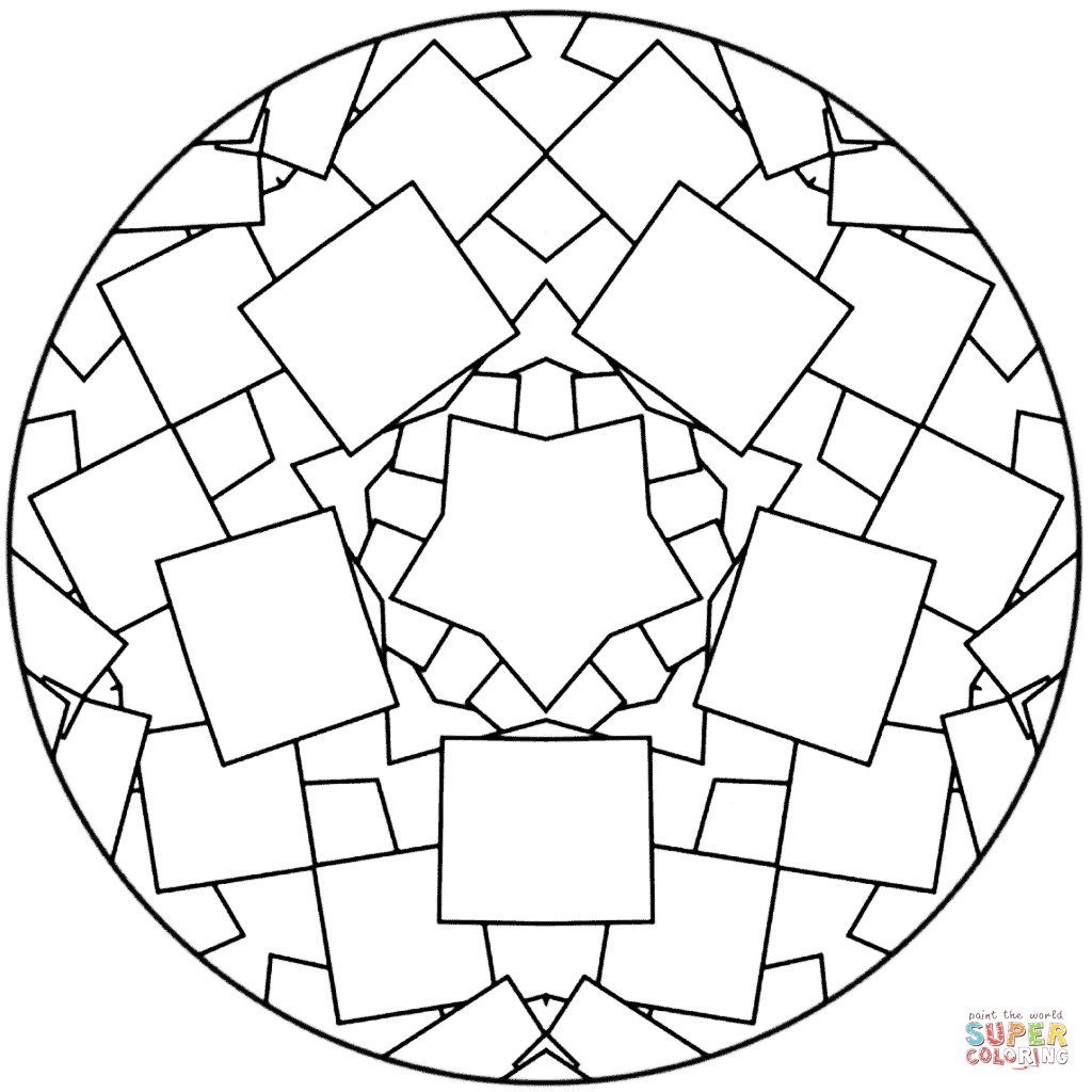 1024x1024 Simple Mandala Coloring Pages Printable To Good Draw Photo